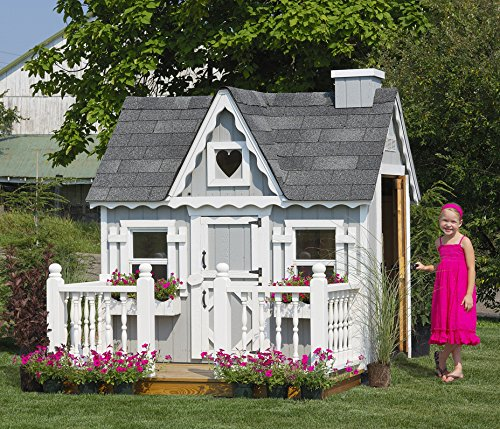 Wooden Outdoor Playhouse Kit (Little Cottage Company Victorian DIY Playhouse Kit, 4' x 6')