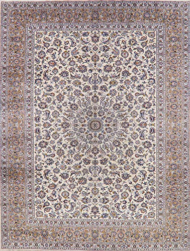 Vintage 10X13 Sage Green Persian Rug Hand-Knotted Floral Oriental Wool Carpet (Rug Sage Kashan)