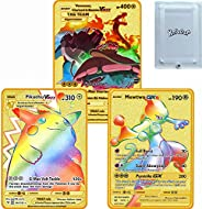 Charizard Vmax Metal Gold Plated Card, Charizard Vmax DX GX Metal Gold Plated Collection Cards, The Best Gift