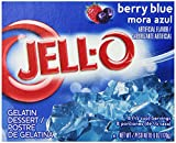 Jell-O Berry Blue Gelatin Mix 3 Ounce Box (Pack of 6)