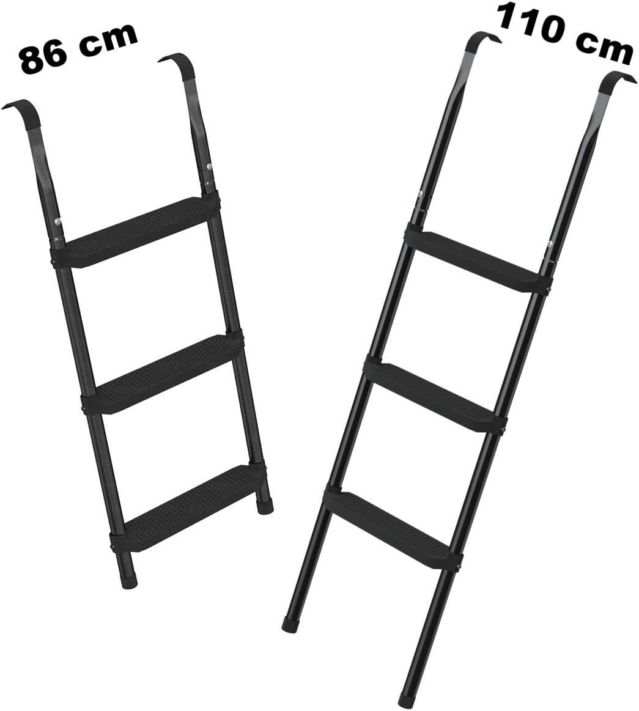 Ampel 24 - Escalera para Cama elástica/ca 86 cm / 3 escalones Anchas/facilita la montada en el trampolín/Negro: Amazon.es: Jardín