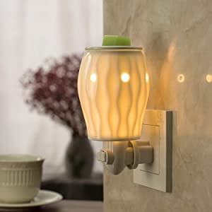 StarMoon Wax Warmer Plug in for Home Décor, Wax Melt Warmer, Pluggable Home Fragrance Diffuser, No Flame, Removable Dish, with One More Bulb (Brazil Beauty)