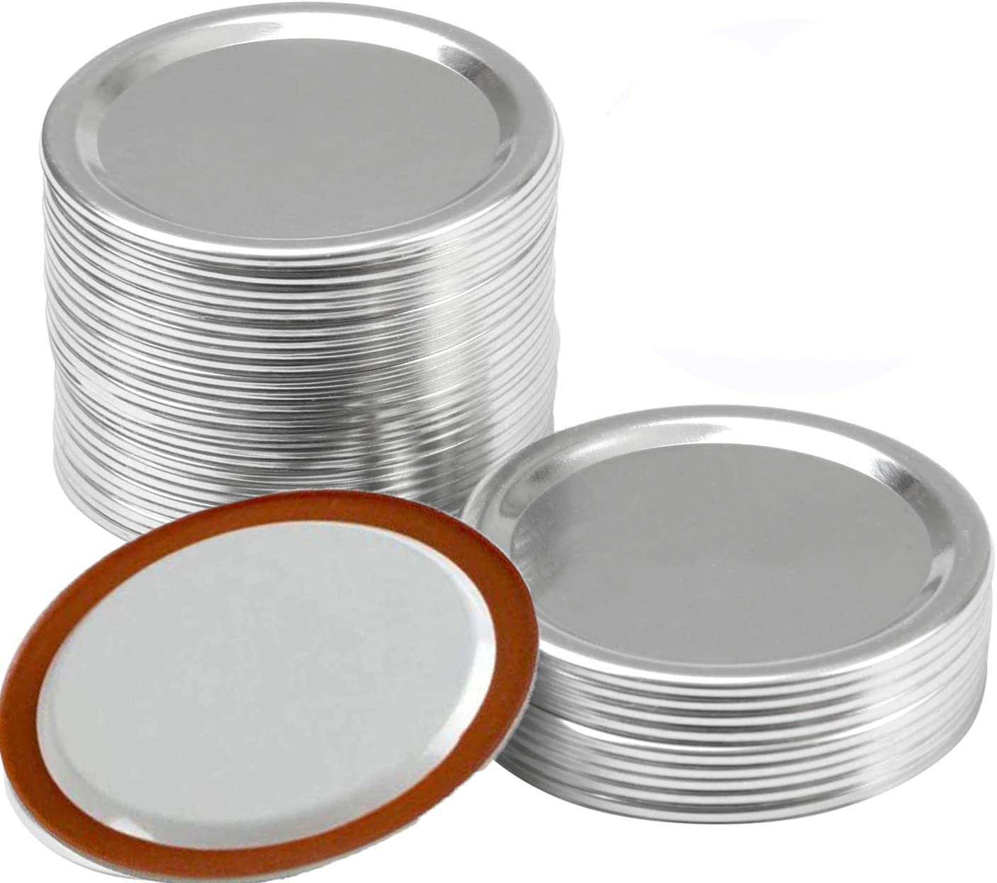 Wide Mouth Canning Lids, Lids for Mason Jar Canning Lids (24 wide lids+ 24 wide bands)