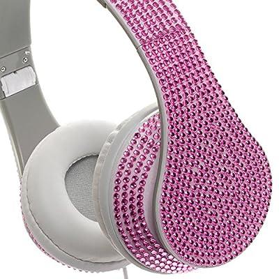 Crystal Case Foldable DJ Stereo Headphones w/ Handsfree Mic