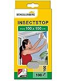 Schellenberg 50710 Mosquitera, protección Anti Insectos y Moscas para Ventanas, Blanco Max. 100 x 100 cm