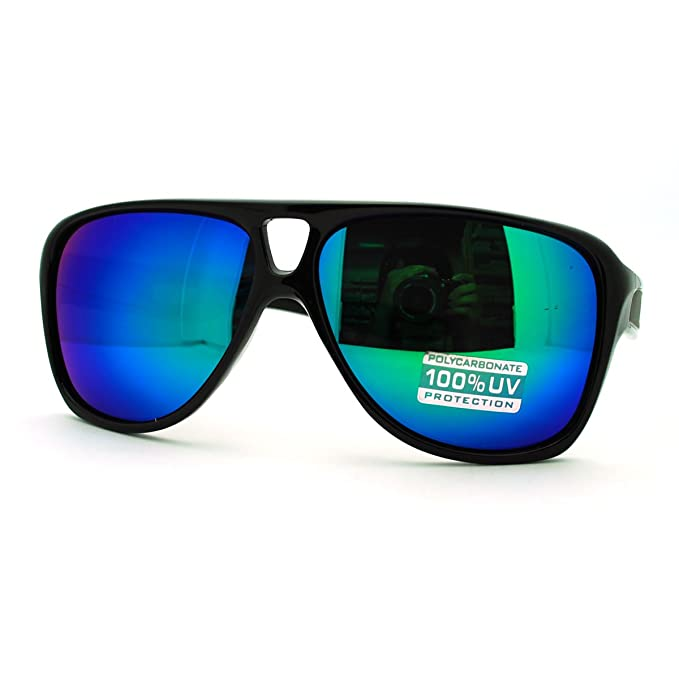 Amazon.com: Retro multicolor lente anteojos de sol Sporty ...