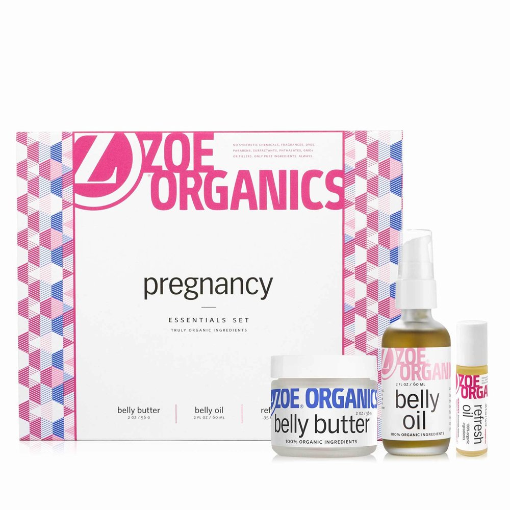 Zoe Organics - Pregnancy Gift Set, Moisturizing and Conditioning Oils and Butter that Supports Skin During Pregnancy and Postpartum (Set of 3: Belly Butter, Refresh Oil and Belly Oil) by Zoe Organics (Image #2)