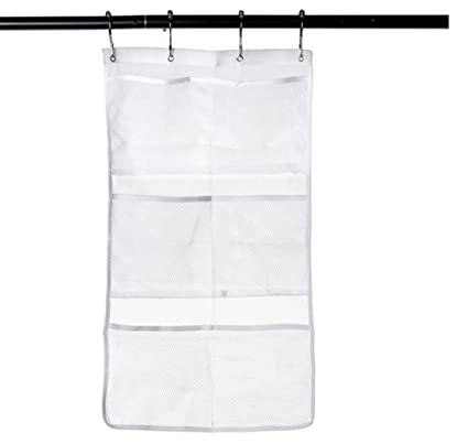 Quick Dry Hanging Caddy And Bath Organizer With 6 Pocket Hang On Shower Curtain