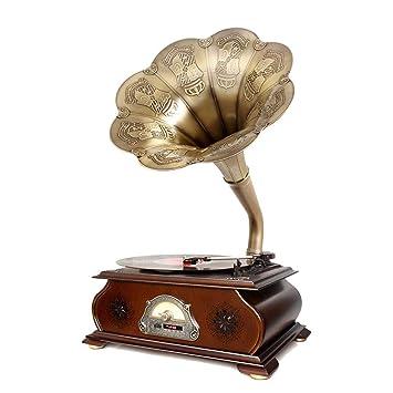 LVSSY-Tocadiscos de Vinilo Vintage Gramófono,Compatible con ...
