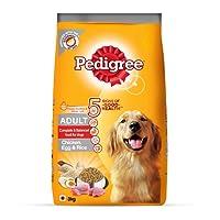 Pedigree Adult Dry Dog Food- Chicken, Egg & Rice, 3 Kg Pack