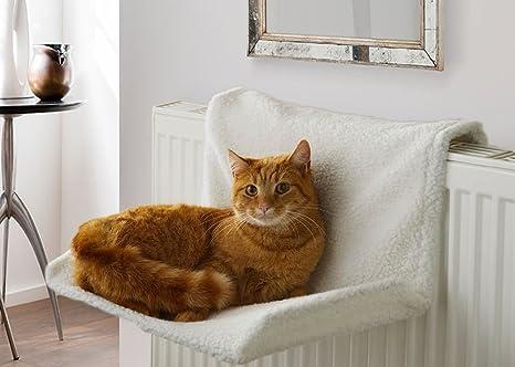 GLOW - Cama de radiador para mascotas con diseño de gato y perro, cálida y acogedora, ...