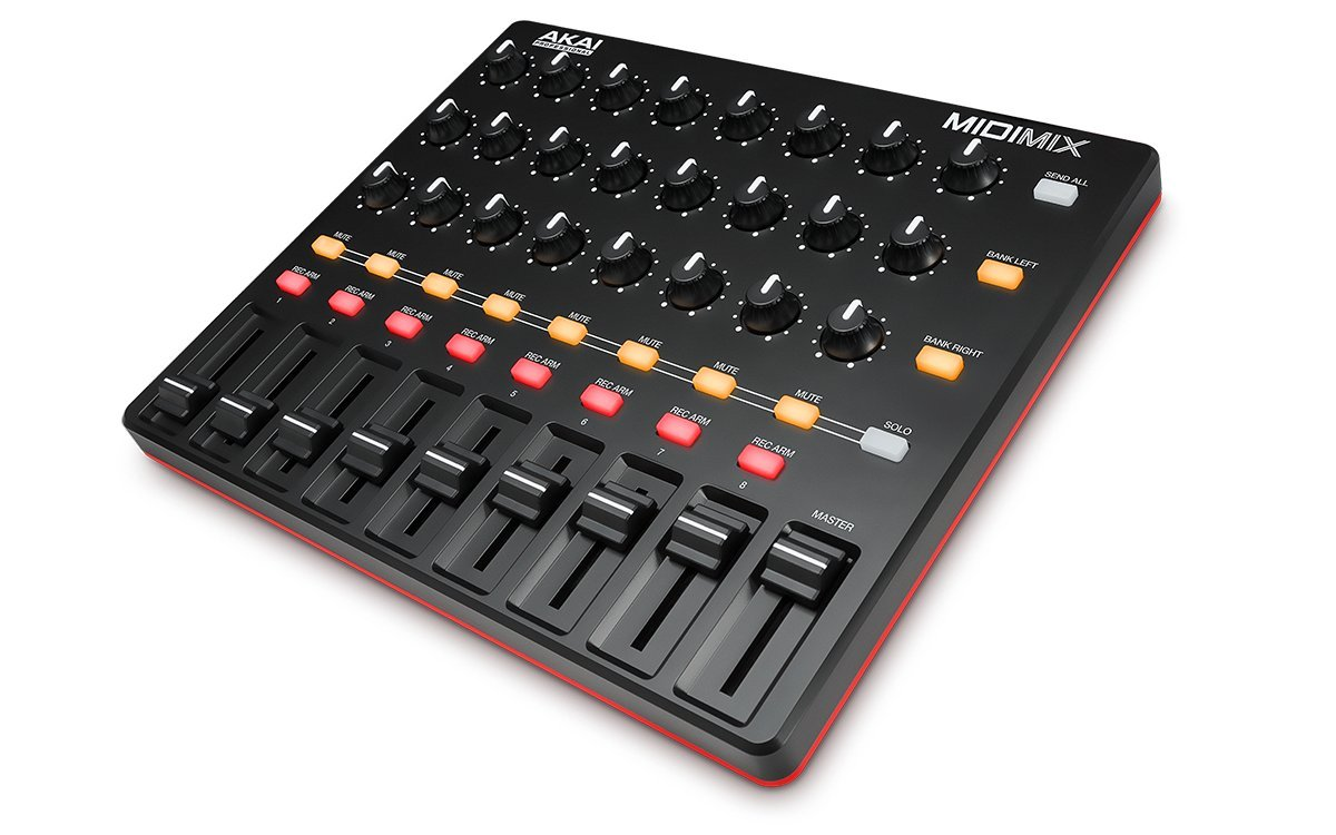 Akai Professional MIDImix | High-Performance Portable USB Mixer/DAW Controller (24 knobs / 16 buttons / 8 line faders)