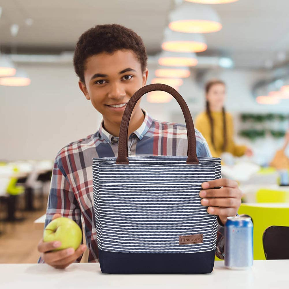 Blue Modoker Lunch Bags for Women Insulated Lunch Box for Work School Picnics Large Lunch Tote with Pockets