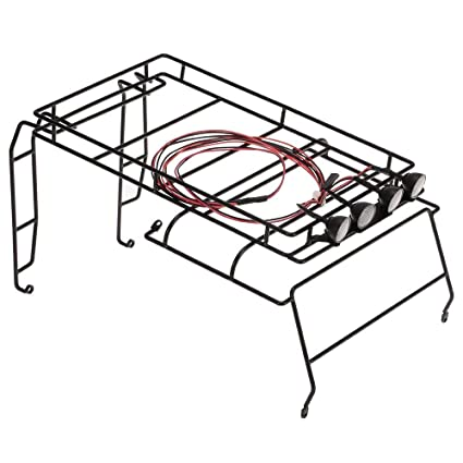 Metal Roof Luggage Rack With White Led Light For Rc Car Amazon In