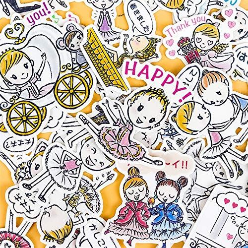 - 40pcs Creative Cute Self-Made Ballerina Girl 3 DIY Animal Phone Stickers Diary Album Decoration Sticker Scrapbooking Child