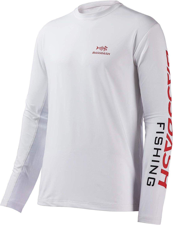 Bassdash Fishing T Shirts for Men UV Sun Protection UPF 50 Long Sleeve Tee T-Shirt