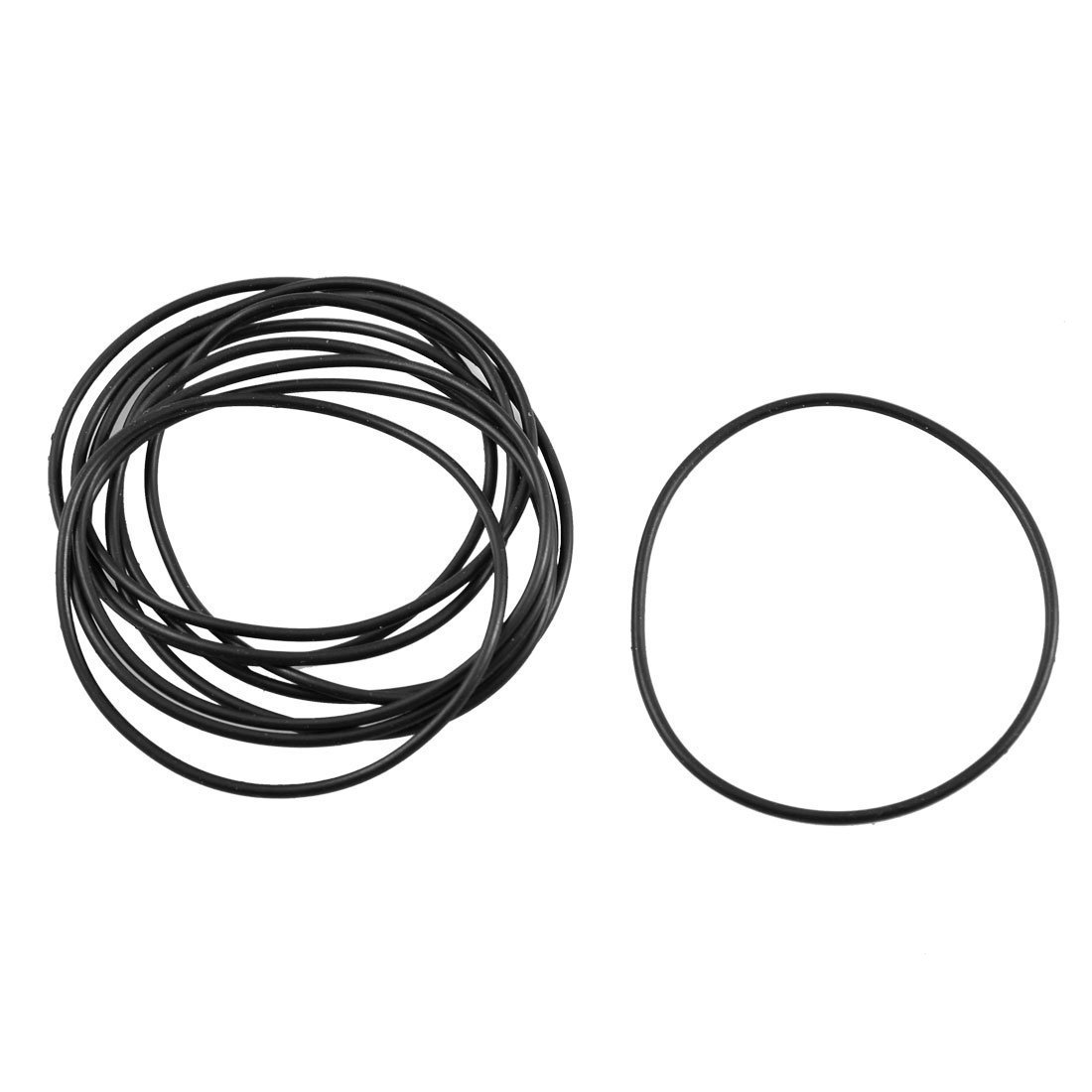 sourcingmap® 10 Pcs Black Rubber Oil Filter Seal O Ring Gaskets 50mm x 47mm x 1.5mm a12100800ux1045