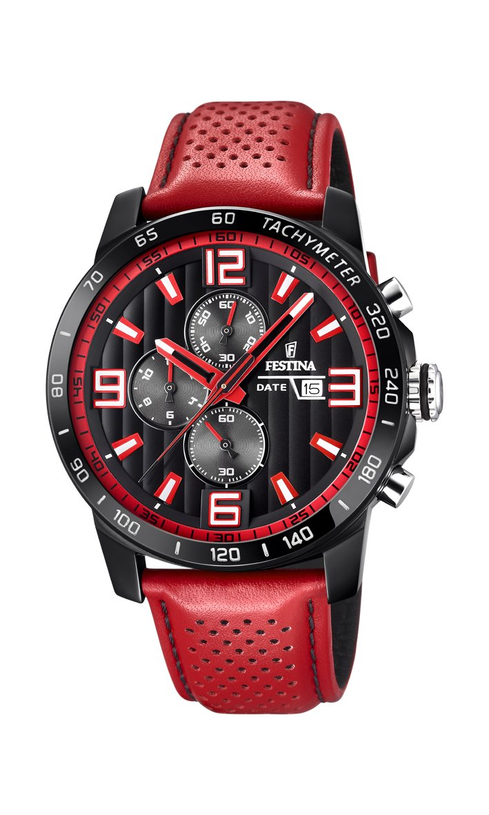 Men's Watch Festina - F20339/5 - Chronograph - Date - Red and Black by Festina