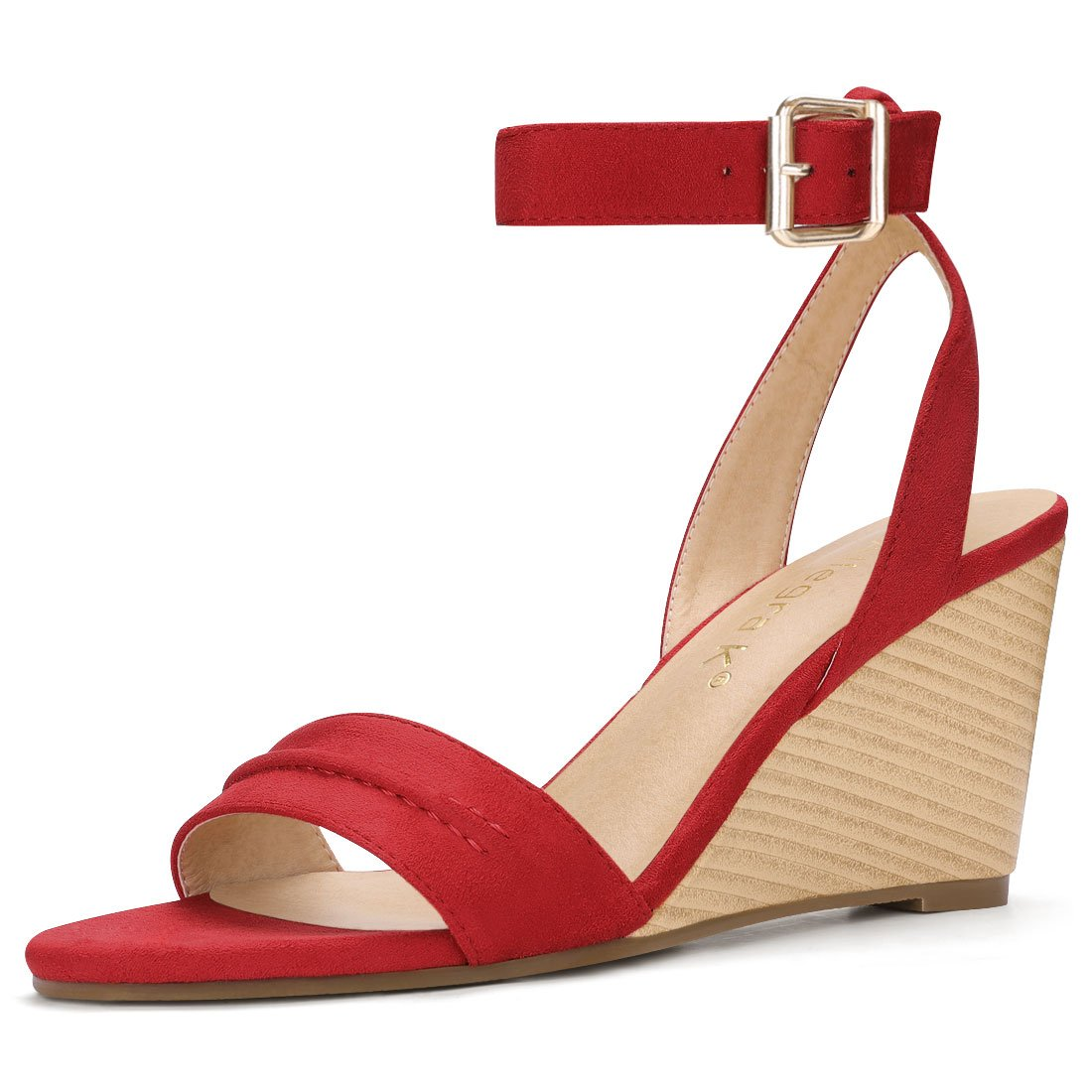 Allegra K Women's Cutout Tie-up Wedge Sandals g17051600ux0029