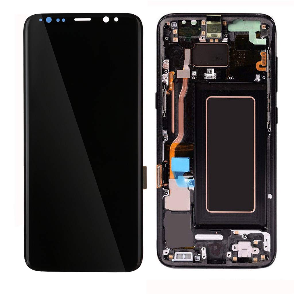 Samoii LCD Display Digitizer Screen Assembly Replacement Parts for Samsung Galaxy S8+ Plus Display Black Compatible with for Samsung Galaxy S8plus G955U G955F G955A G955P G955V G955T G955R4 (Black)