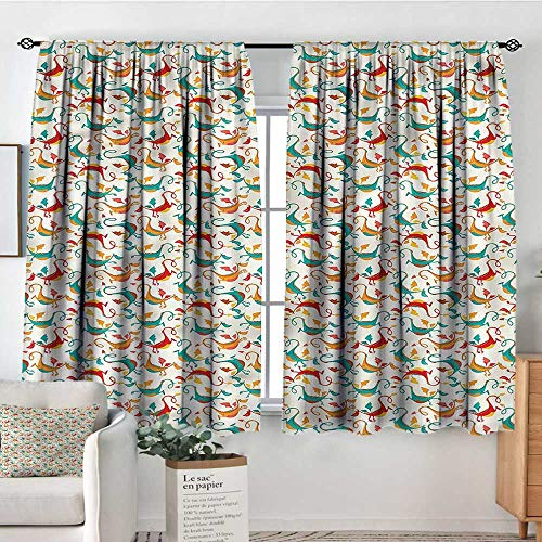 72 Dragon - RenteriaDecor Dragon,Nursery/Baby Care Curtains Flying and Smiling Dragons 42