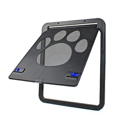 LEERAIN Gato Solapa Mascota Puertas Perro Perrito Puerta De Tela MetáLica Abdominales Suministros De Mascotas Anti