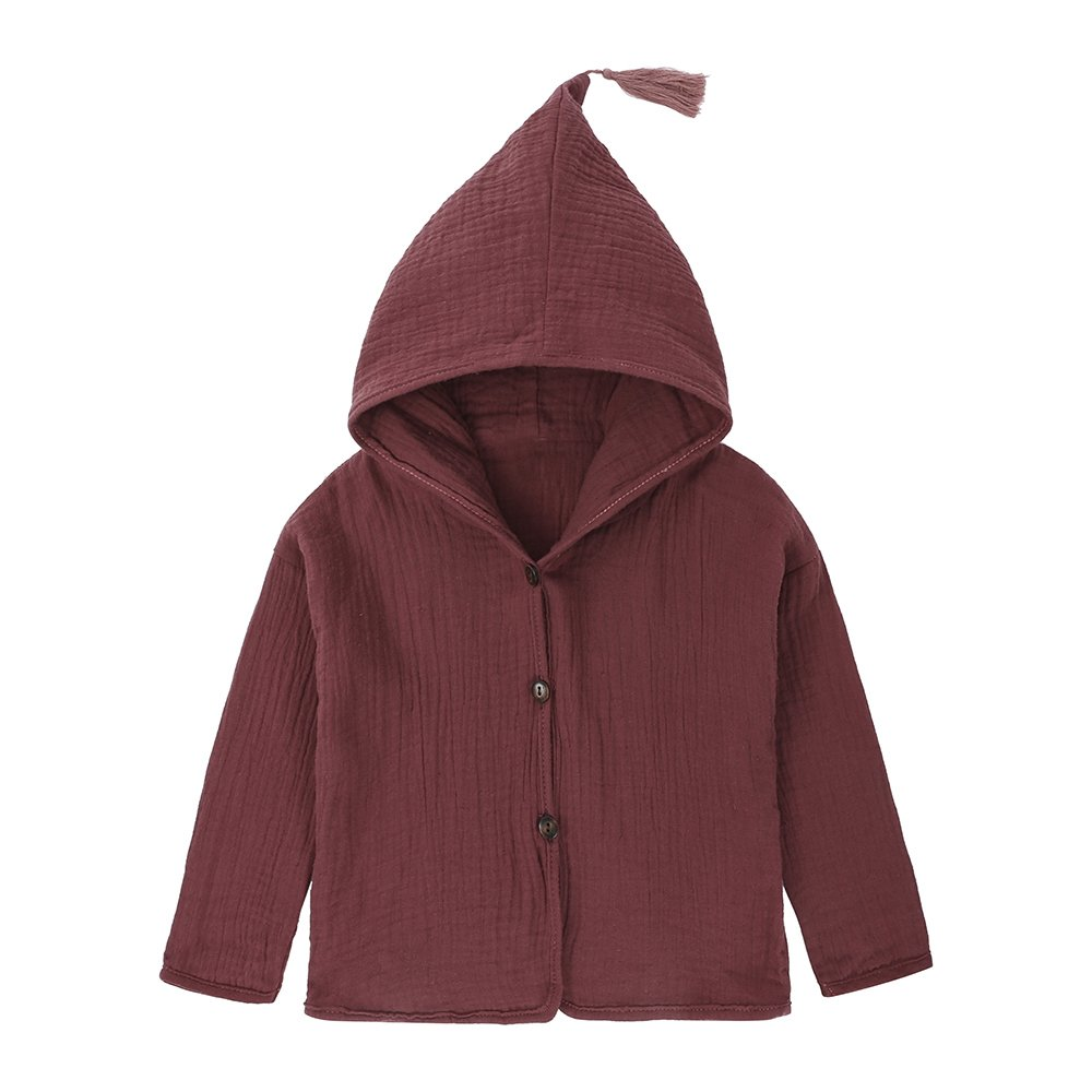 Baby Kids Girl Green Yellow Pink Botton Long Sleeve Hooded Coat Jacket Fuzhou Shang Ku Trade Co. Ltd.