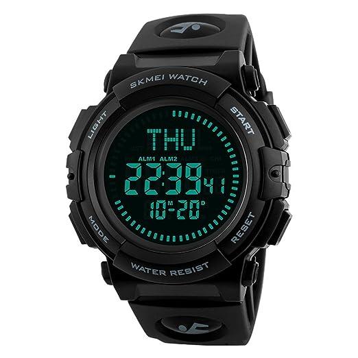 TONSHEN Brújula Relojes de Hombre Deportivos Digital LED Outdoor Militares Táctica Impermeable 50M Resistente Agua Electrónica Reloj de Pulsera: Amazon.es: ...