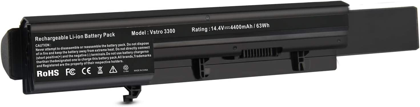 8-Cell Capacity Laptop Battery for Dell Vostro 3300 3300N Vostro 3350, P/N: 7W5X09C 312-1007 7W5X0 50TKN NF52T GRNX5 0XXDG0 451-1135