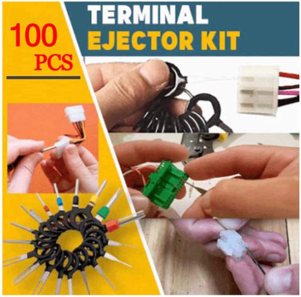WOTOOYER 60 Pcs Terminal Ejector Kit,Auto Car Electrical Wiring Crimp Connector Pin Extractor Kit for Car Repair Durable Tool,Terminal Removal Connector