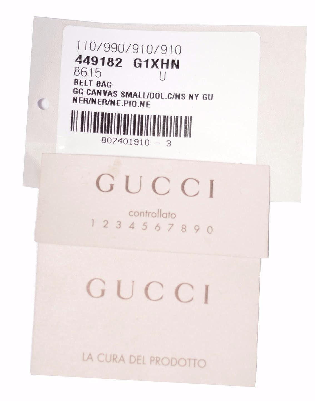 33de6096724312 Gucci Black Canvas GG Guccissima Web Stripe Fanny Pack Waist Sling Bag:  Amazon.ca: Shoes & Handbags