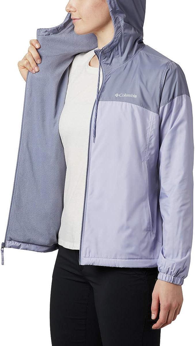 Columbia Women's Flash Forward Plus Size Lined Windbreaker Twilight/New Moon