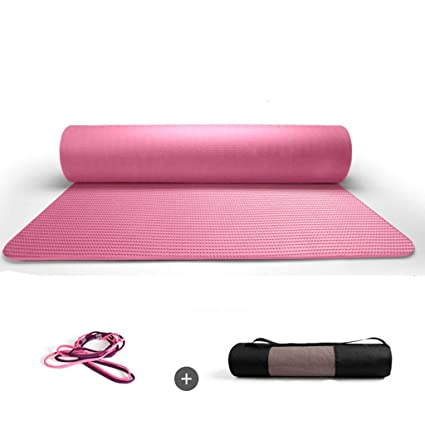 Amazon.com: Loiit Yoga Mat Extra Thick with Carry Straps ...