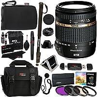 Tamron 18-270mm f/3.5-6.3 Di II VC PZD All In One Auto Focus Zoom Lens for Canon DSLR Cameras BOO8C, Polaroid 72 Monopod, Polaroid Filter Kit, Ritz Gear Bag, Case, Polaroid Monopod & Accessory Bundle
