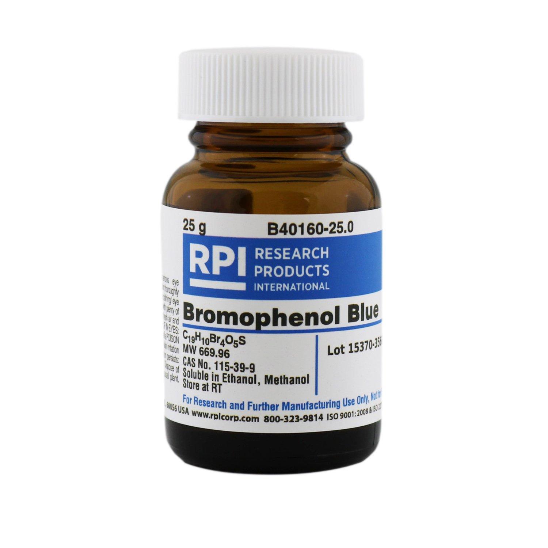 Bromophenol Blue [3',3'',5',5''-Tetrabromo-phenolsulfonephthalein], 25 Grams by RPI
