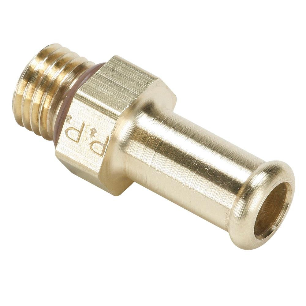 Parker 685HB-16-12 Brass Hose Barb Fitting Beaded Barb and Straight Thread Beaded Barb Connector Brass 1 and 1-1//6-12 1 and 1-1//6-12 Barb to Straight Thread