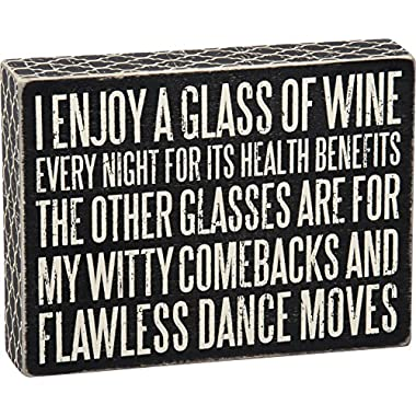 Primitives by Kathy Glass of Wine for Health Box Sign
