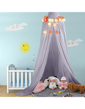 Cama Dosel baldaquino de algodón Lienzo Deko baldaquino para habitación de los Niños Baby Cama Cielo