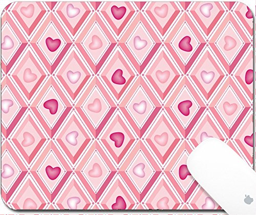 Luxlady Gaming Mousepad 9.25in X 7.25in IMAGE: 17238153 baby seamless vector pattern with lilac and pink - Price Fantail