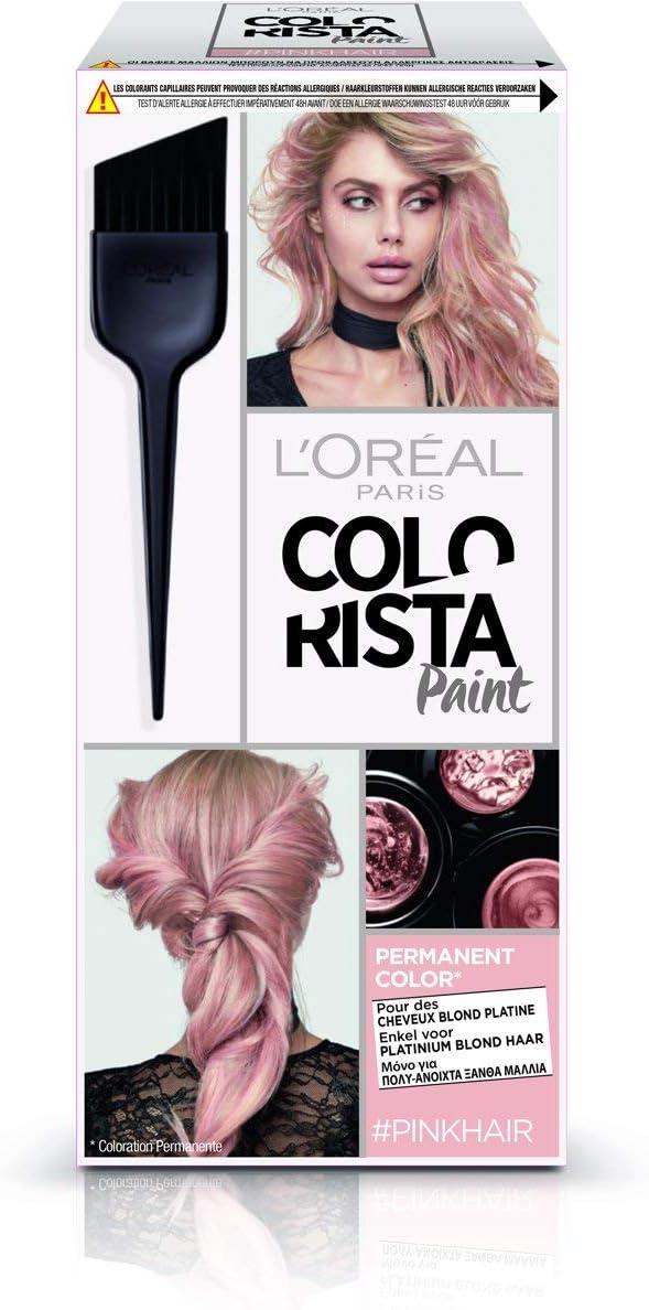 LOréal Paris Colorista PAINT FR/NL/GR 10.220 PIN coloración del cabello Rosa - Coloración del cabello (Rosa, Paint pink, Pink, Paint pink, 59 mm, 78 ...