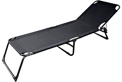 Sedia A Sdraio Tessuto : Gambe sedia a sdraio con tessuto oxford bespannung nero amazon