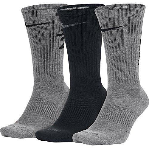 Nike Unisex Dry Cushion Crew Training Socks Multi-Color (900) Large (Men's Shoe Size