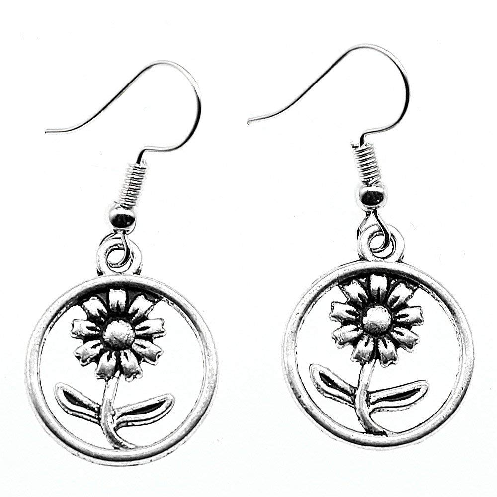 Taliyah 1 Pair Flower Drop Earrings ModernS Earrings with Earring Backs Stopper