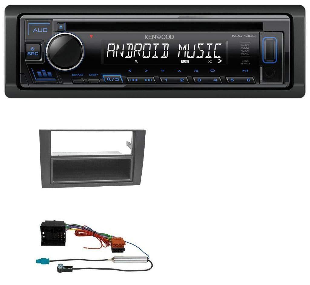 Kenwood KDC-130UB 1DIN AUX USB MP3 CD Autoradio fü r Audi A4 01-08 B6 B7 Symphony Quadlock caraudio24