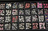 Set of 20 Pc 8mm Rhinestone Slide Charms Heart /Star/sports /Animal /Trendy Charms /Any Numbers /Any Silver Gold Letters Charms