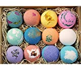 LifeAround2Angels 12 Bath Bombs Gift Set - Handmade in the USA with Fresh ingredients, Shea and Coco Butter to Moisturize Dry Skin, Relaxation all in One Box!
