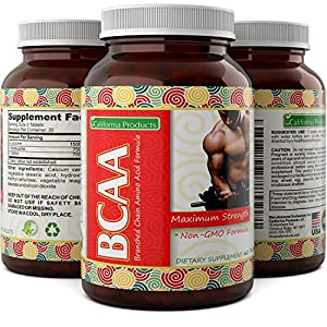 3000 mg Dosage BCAA Pills – Pure Lean Gains – Men + Women – Best Concentrated Muscle Repair – Build Muscles + Recovery – Essential Amino Acids Supplements by Nature Bound