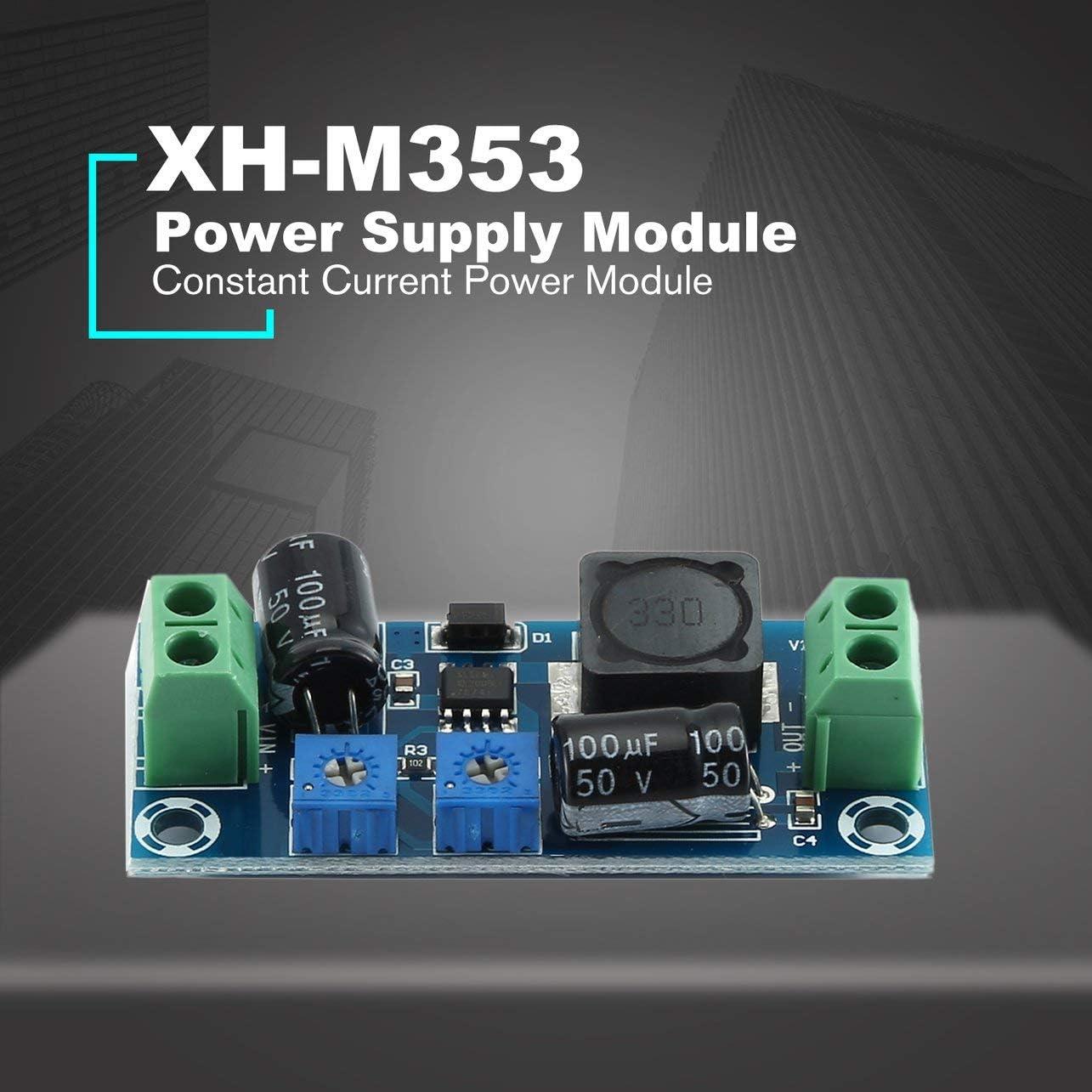 WOSOSYEYO XH-M353 Alimentation du Module dalimentation de la Batterie dalimentation Carte de contr/ôle de Charge de Batterie au Lithium 1.25-30V 0-2A
