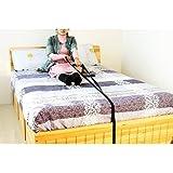 HNYG Caddie de cuerda de cama, asas, capacidad de peso de 300 libras, rieles de cama resistentes para adultos mayores, sentad