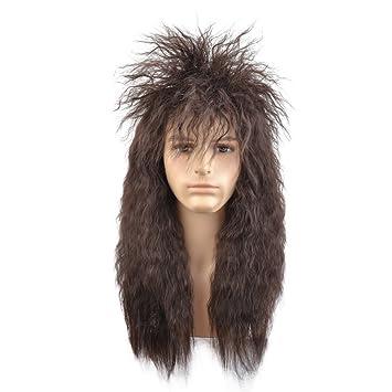 Amazon.com: Beron 70s 80s para hombre mecedora Dude peluca ...